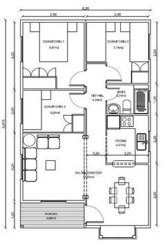 Casas de Madera, Diseños Casas, Planos casas,Planos Gratis, Fotos de Casas de M. House Layout Plans, Duplex House Plans, Modern House Plans, House Layouts, Small House Plans, House Floor Plans, Container Home Designs, Container House Plans, Home Design Plans