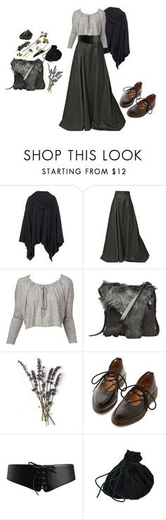 """""""gathering herbs and flowers"""" by tarnyrien ❤ liked on Polyvore featuring Alexander Wang, Gareth Pugh, Henry Beguelin, Dr. Martens, Alaïa and Lady Grey"""