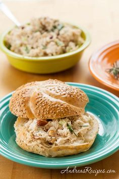 Chicken Salad with Almonds and Rosemary, adapted from Cooking Light Dinnertime Survival Guide. #fitfoodierun