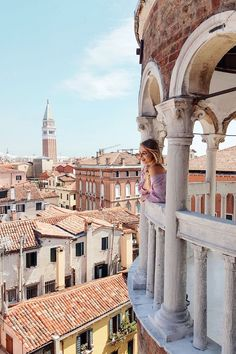 Up on the tower, Contarini del Bovolo, Venice   Italy: http://www.ohhcouture.com/2017/06/monday-update-49/ #leoniehanne #ohhcouture