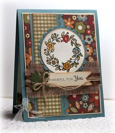 Thankful For You | handmade card | by Jen Shults