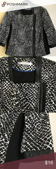 Nygard Black/White Jacket Plus Size 20 New Peter Nygard Jackets & Coats Blazers