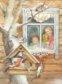 Сообщество иллюстраторов | Иллюстрация Зима....