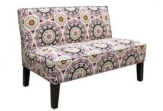 Stout Pattern: Keylargo 1 Lilac on Gardner Armless Settee, Lilac at OneKingsLane.com
