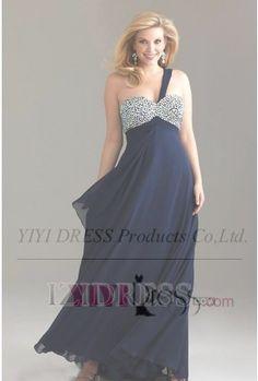 $137.09---Empire Sweetheart One Shoulder Floor-length Chiffon Evening Dress
