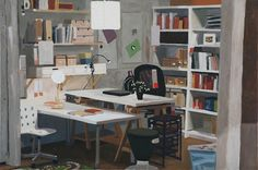Image result for colin martin paintings Corner Desk, Paintings, Image, Furniture, Home Decor, Homemade Home Decor, Paint, Corner Table, Painting Art