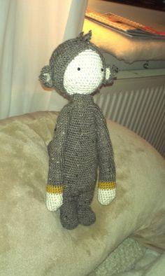DIRK the dragon made by Monika / crochet pattern by lalylala