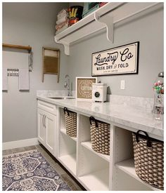 Farmhouse Laundry Room Bright and beautiful laundry room by - Our Metal Laundry Co Sign fits in perfectly! Farmhouse Laundry Room Bright and beautiful laundry room by - Our Metal Laundry Co Sign fits in perfectly!