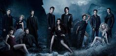 its an old promo pic but I love it cause they are all in it! #TVD #cast