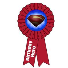 Superman Award Ribbon (includes 1 in a pack)