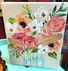 "Wall decor ""Grateful"" at Homestead Handcrafts, San Antonio, Texas."