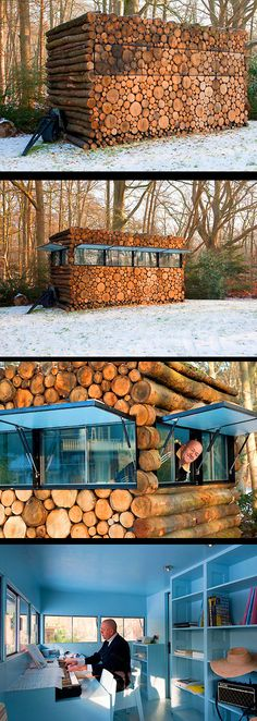 Manly log cabin office