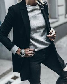How to rock the casual chic look Mode Outfits, Fall Outfits, Casual Outfits, Fashion Outfits, Dress Casual, Blazer Outfits, Looks Street Style, Looks Style, Style Me