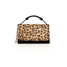 SUSU Mini Wallet Clutch Leather Small Crossbody (110 CAD) ❤ liked on Polyvore featuring bags, handbags, shoulder bags, leopard, chain strap shoulder bag, crossbody purse, crossbody handbags, mini crossbody purse y leather cross body purse