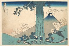 Katsushika Hokusai | Mishima Pass in Kai Province (Kōshū Mishima goe), from the series Thirty-six Views of Mount Fuji (Fugaku sanjūrokkei) | Japan | Edo period (1615–1868) | The Met