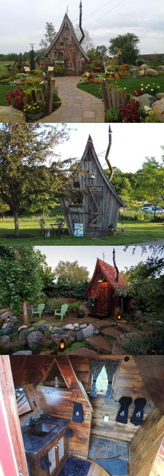 Tiny Reclaimed Wood Cabins That Appear Plucked From the Pages of Dr. Seuss