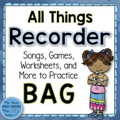 This 326-page comprehensive unit will give you everything you need to teach the notes B, A, and G on the recorder. Included in this set:8 songs to use on the recorder including:  6 complete BAG songs Closet Key Frog in the MeadowHop Old SquirrelHot Cross BunsRain is Falling DownSailor on the Sea2 songs to extract BAG patterns: Chicka Hanka Shanghai ChickenAll songs come with notation.The 6 complete songs each come with slideshows including text, stick notation and solfge, stick notation and…