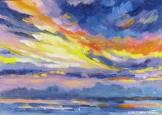 """June 11, 2012  oil on panel, 5x7""""  Atlantic Beach, FL  sometimes, it's just a big abstract painting in the sky!  http://picmarkr.com/files/9d4f813c1c272ec264624956b864c2ce/image_1.jpg"""