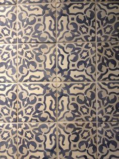 """Play with Patterns and Prints. Walker Zanger's Duquesa """"Fatima"""" tile."""