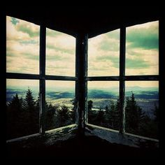 Adirondack fire tower- windows like this