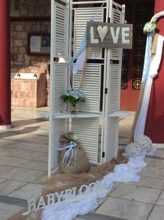 Στολισμοί Γάμου & Βάπτισης Ladder Decor, Outdoor Structures, Home Decor, Decoration Home, Room Decor, Interior Decorating