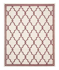 This Red & Ivory Kalina  Indoor/Outdoor Rug is perfect! #zulilyfinds