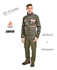 Costum lucru jacheta + pantaloni verde vanator 100% bumbac Military Jacket, Costume, Fashion, Green, Moda, Field Jacket, Fashion Styles, Military Jackets, Costumes