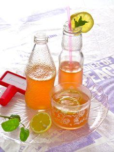 Plateful: Sparkling Apple Lemonade—pretty pink summer cooler