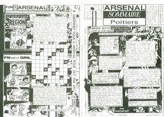 Arsenal Sommaire Poitiers #10-11, Newsletter mensuelle, Poitiers / Régions, AMP, Didier, PIer, Marie, Fabrice.