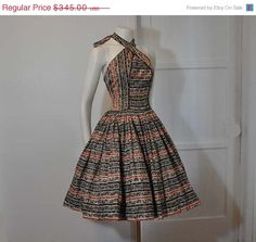 NEED THIS!!!!!! Sale 50s dress / Cross Ur Heart Halter by Planetclairevintage, $310.50