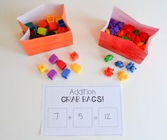 Free Hands On Addition Activities!