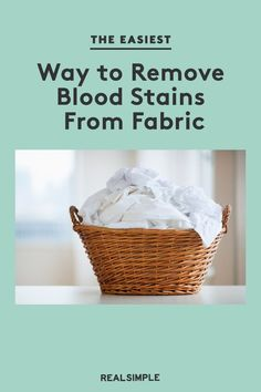 The Easiest Way to Remove Blood Stains From Fabric | Follow our guide to removing blood stains from fabric like clothes, furniture, carpet, and other common areas. Use our laundry guide and professional cleaning steps to help you remove blood stains for good. #organizationtips #realsimple #howtoclean #cleaningtips #cleaninghacks