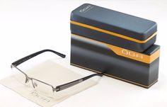 Authentic OGA Morel Eyeglasses Frame 74140 GG053 Dark Gray Plastic Metal France #OGA