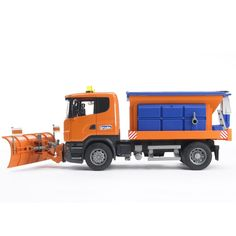 Bruder Toy MB Arocs Winter Service Truck with Snow Plow - Educational Toys Planet Cool Toys, Awesome Toys, Christmas Train Set, John Deere Toys, Kids Toys For Boys, Play Vehicles, Snow Plow, Toy Trucks, Cool Cartoons