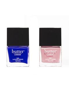 Two of our favorite shades from Allure's collaboration with Butter London: a blue-purple that's as crazy-bright and crazy-cool as a polish can get, and a powdery pink that makes hands look young and fresh but not boring or prim.