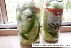 Savanyú hagyma télire Pickles, Cucumber, Food, Essen, Meals, Pickle, Yemek, Zucchini, Eten