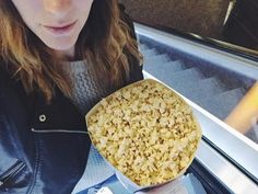 Date night last night featuring the largest popcorn I have ever seen.