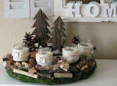 Idea per il Natale. #candels #natale #centrotavola #love #light