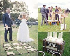 Spellen op de bruiloft