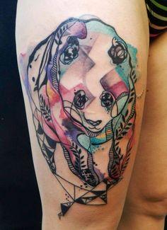 Panda Watercolor Tattoo - Petra Hlaváčková