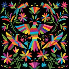 Mexican Colors, Photo Illustration, Illustration Flower, Arte Popular, Free Vector Art, Royalty Free Images, Textiles, Embroidery, Traditional
