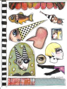 my zetti collage sheet Ideas Collage, Free Collage, Digital Collage, Collage Art, Kunstjournal Inspiration, Art Journal Inspiration, Art Journal Pages, Art Journals, Collages