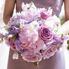 wedding flowers, lavender wedding, lavender color scheme