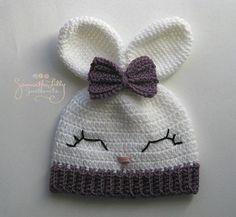 Crochet Toys For Boys Olivia Bunny Hat Crochet Bunny Hat Crochet by SamanthaLillySweethe -