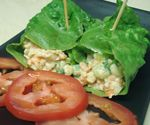 Chickpea Salad Lettuce Wraps. Vegan; Free of wheat, gluten, dairy, corn, egg, and nuts.