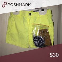 Yellow short Yellow adjustable shorts with suspenders Mayoral Bottoms Shorts