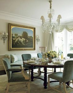thinking of changing our living room in to a large dining room/center hangout.  Reclining at the table...