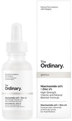 Niacinamide 10% + Zinc 1% - 30ml - High-Strength Vitamin and Mineral Blemish Formula Niacinamide (Vitamin B3) is indicated to reduce the appearance of skin blemishes and congestion. A high 10% concentration of this vitamin is supported in the formula by zinc salt of pyrrolidone carboxylic acid to balance visible aspects of sebum activity. Contraindications: If topical Vitamin C is used as part of skincare, it should be applied at alternate times with this formula (ideally Vitamin C in the PM…