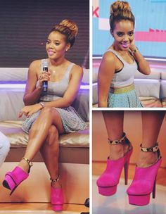 Angela Simmons- Love Hair style & Shoes!