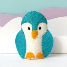 Penguin Finger Puppet - felt